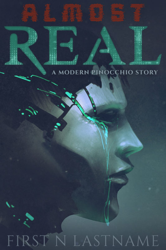 Almost Real - science fiction premade book cover for self-published authors by Artful Cover