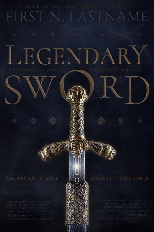 Legendary Sword - premade epic fantasy book cover for self-published author by Artful Cover