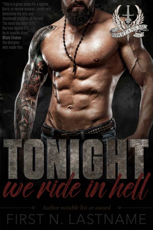 Tonight, We Ride in Hell - erotic romance premade book cover with a biker MC romance theme for self-published authors by Artful Cover
