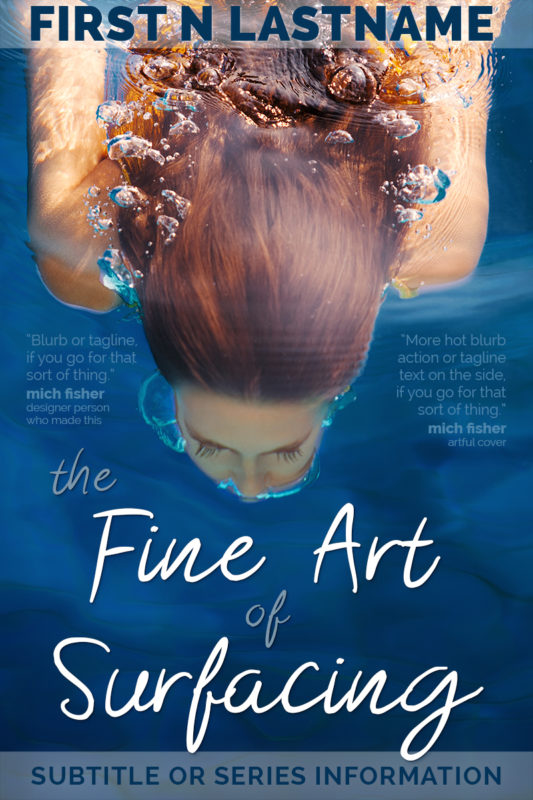 The Fine Art of Surfacing - YA premade book cover for self-published authors by Artful Cover