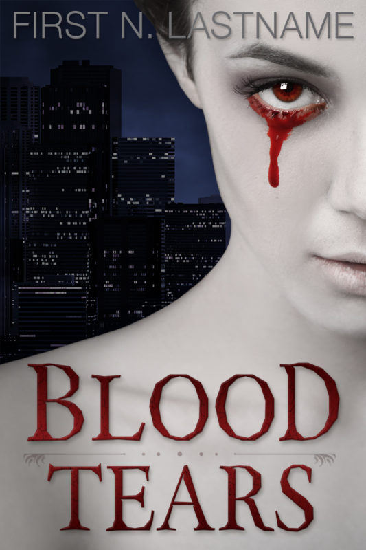 Blood Tears - paranormal fantasy premade book cover for self-published authors by Artful Cover