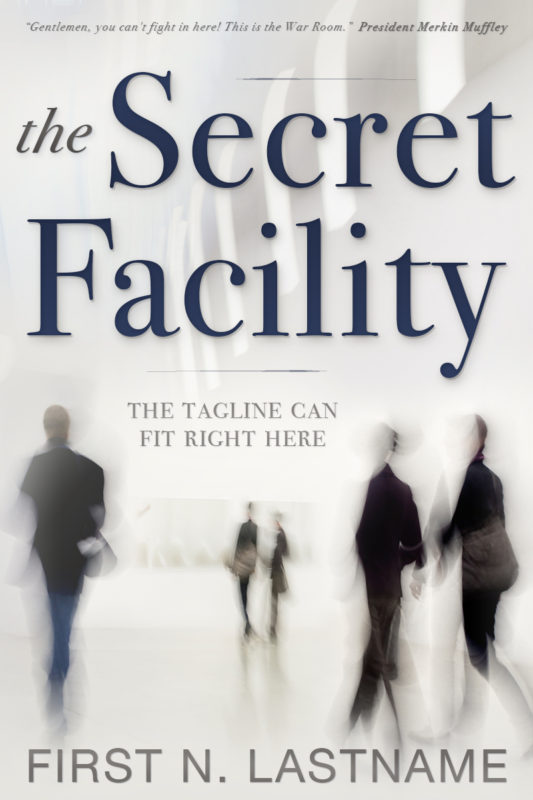 The Secret Facility - suspense premade book cover for self-published author by Artful Cover