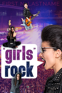 """Girls"" Rock - an example of the Grand custom book cover design package for self-publishing indie authors by Artful Cover"