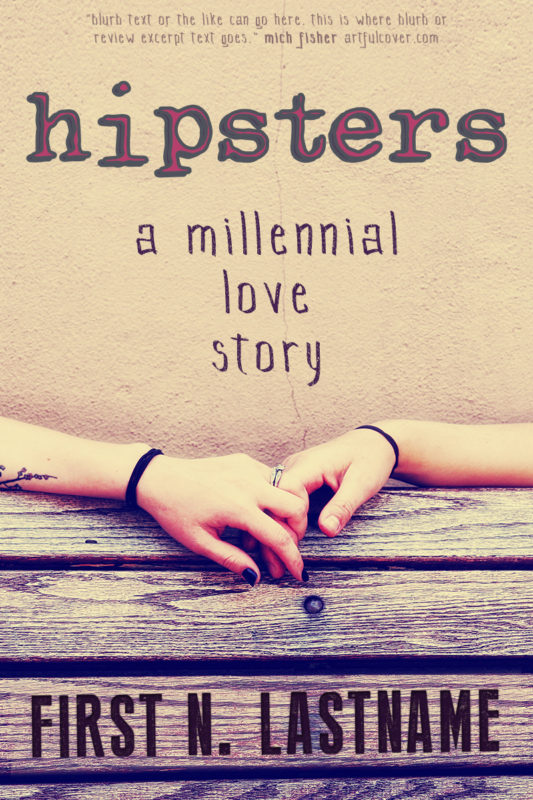 Hipsters - romance premade book cover for self-published authors by Artful Cover
