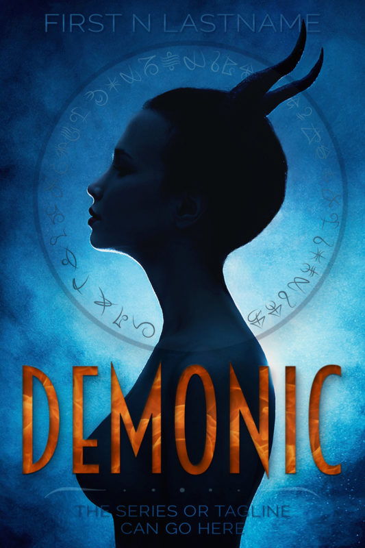 Demonic - paranormal fantasy premade book cover for self-published authors by Artful Cover