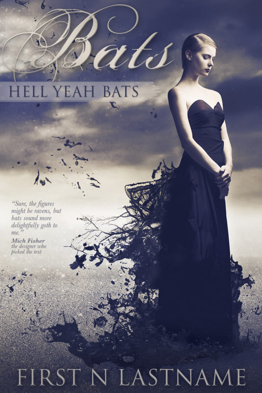 Bats, Hell Yeah, Bats - YA paranormal romance premade book cover for self-published author by Artful Cover