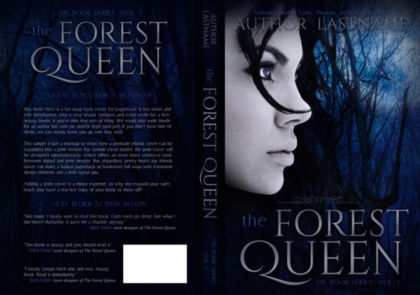 The Forest Queen - fantasy paperback book cover for self-published author by Artful Cover
