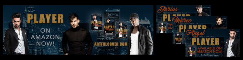 Artful Cover Twitter promo graphics and covers