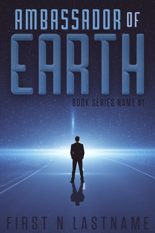 Ambassador of Earth - a first contact science fiction premade book cover for self-published authors by Artful Cover