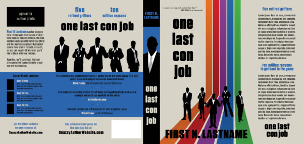 One Last Con Job - hardback dust cover / book cover for self-published author by Artful Cover