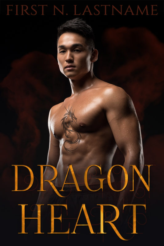 Dragon Heart - premade paranormal romance book cover for #OwnVoices authors by Artful Cover