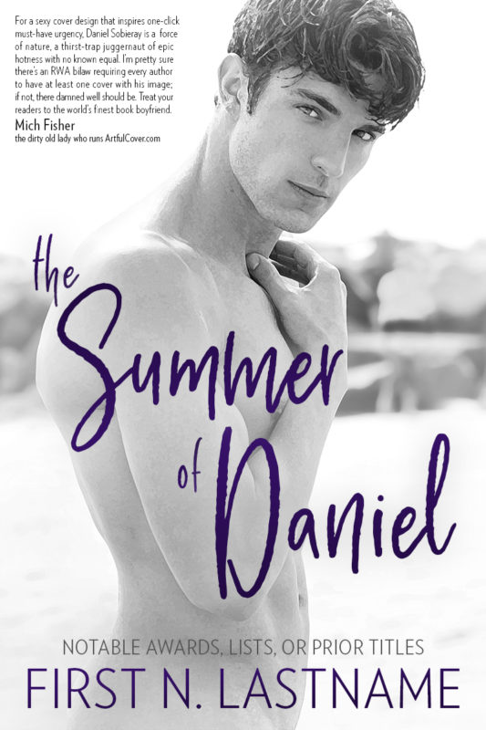 The Summer of Daniel - premade romance book cover for indie authors by Artful Cover