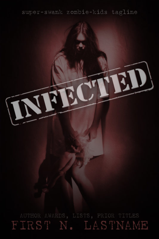 Infected - YA horror premade book cover for self-published authors by Artful Cover