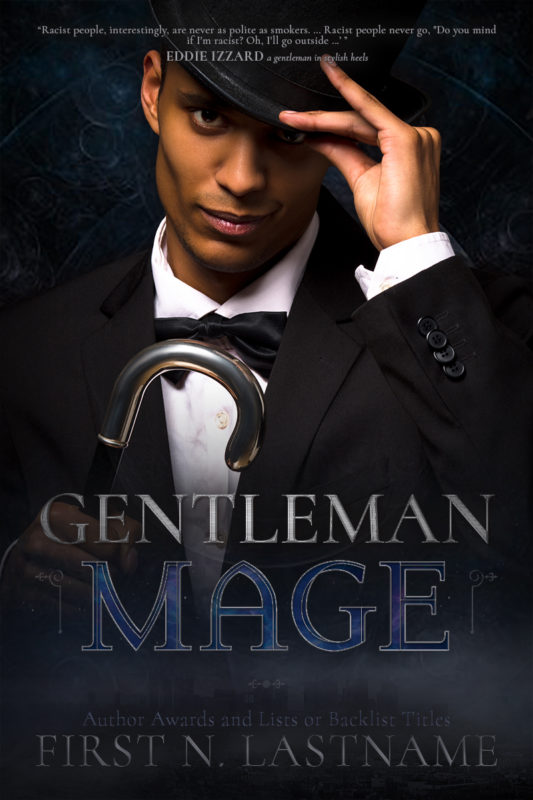 Gentleman Mage - an #OwnVoices urban fantasy premade book cover for self-published authors by Artful Cover