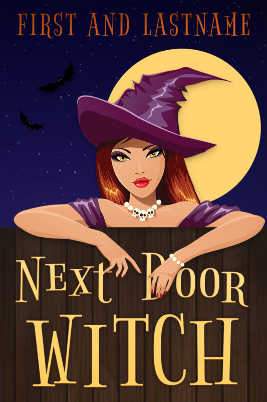 Witch themed cozy mystery premade book cover for self-published authors by Artful Cover
