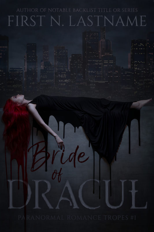Vampire paranormal romance premade book cover for indie authors by Artful Cover
